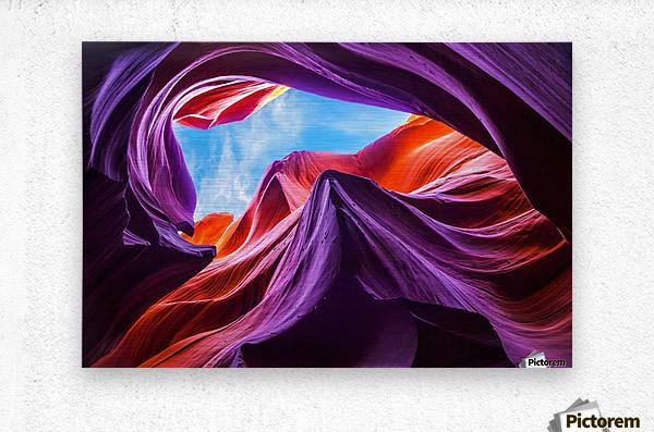 Magical Lower Antelope Canyon  Metal print