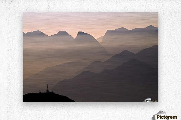 Alpine Sunset  Impression metal
