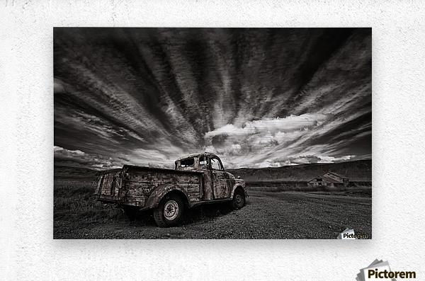 Old Truck (mono)  Metal print