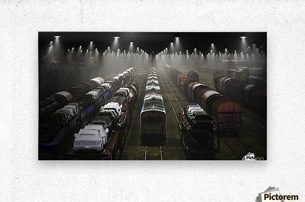 Trainsets  Metal print
