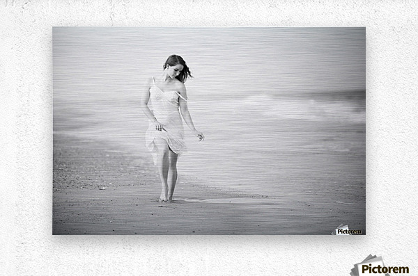 A Walk on the Beach  Metal print