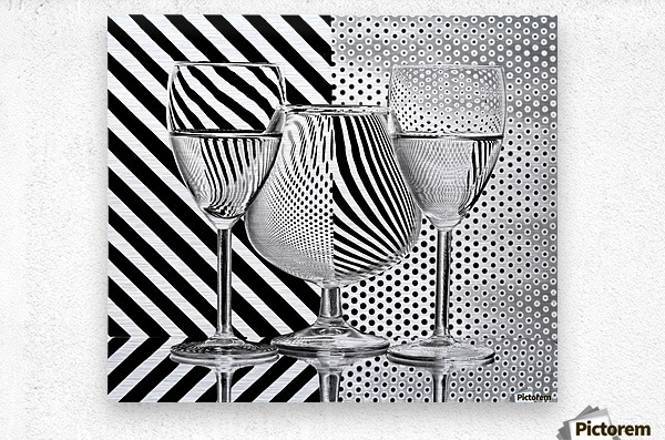 Dots and stripes  Metal print