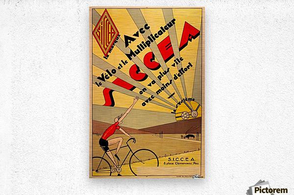 SICCEA original vintage poster  Metal print