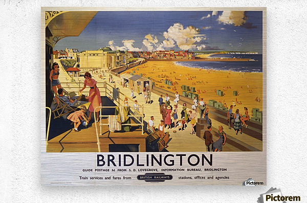 Bridlington poster Blake, F Donald 1950  Metal print