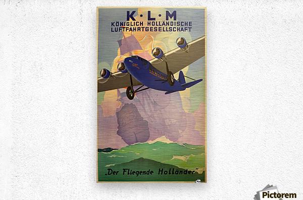 Original Vintage 1933 KLM Travel Advertising Poster  Metal print
