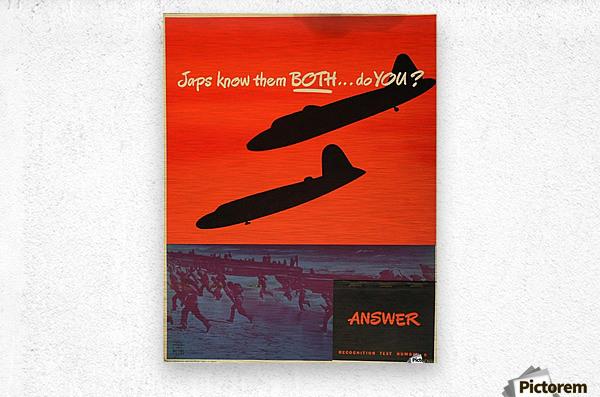 Recognition test vintage poster  Metal print