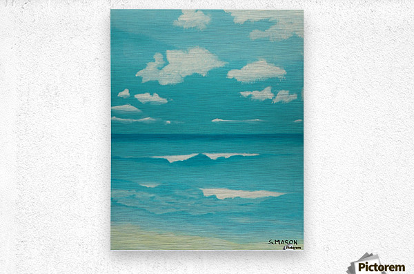 Gone to the beach.  Metal print