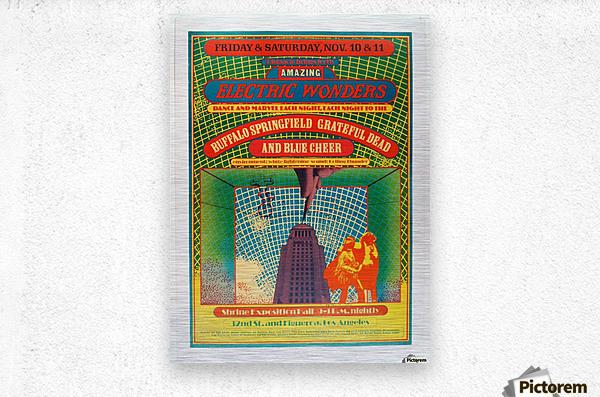 1967 Shrine Exposition Hall Buffalo Springfield Grateful Dead  Metal print