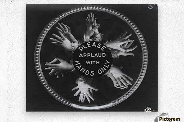Please applaud with hands only  Metal print