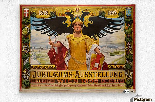 Jubilaeums Austellung Wien 1898  Metal print