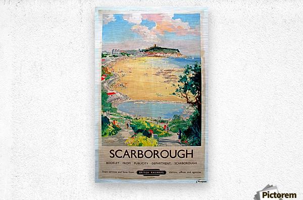 Original Railway Poster Scarborough  Metal print