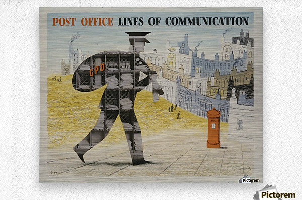 Post Office Lines of Communication  Metal print