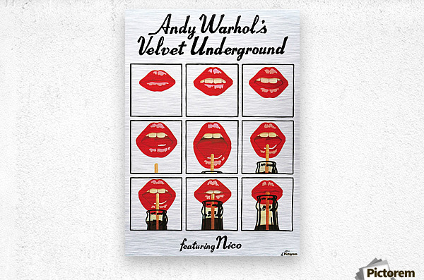 Velvet Underground featuring Nico  Metal print