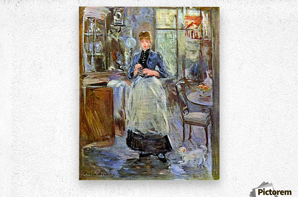 The Dining Room by Morisot  Metal print