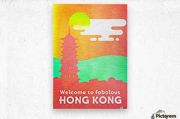 Welcome to Fabolous Hong Kong  Metal print