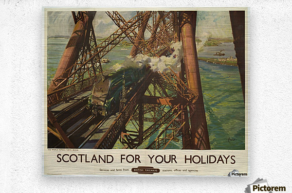 Scotland for your holidays  Metal print