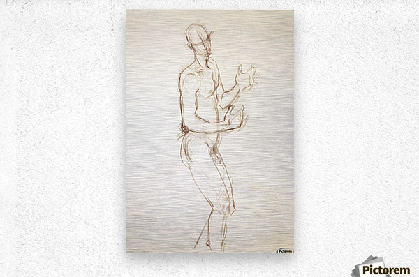 Male Nude Study  Metal print
