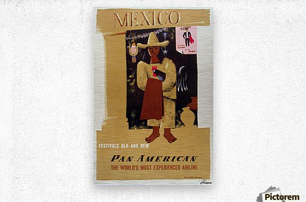 Mexico Pan American Poster  Metal print