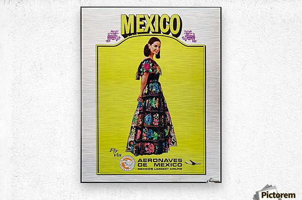 Aeronaves de Mexico Poster  Metal print