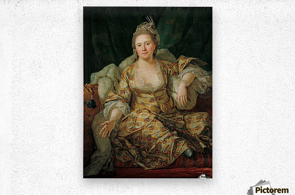 Portrait of the Countess of Vergenne  Metal print