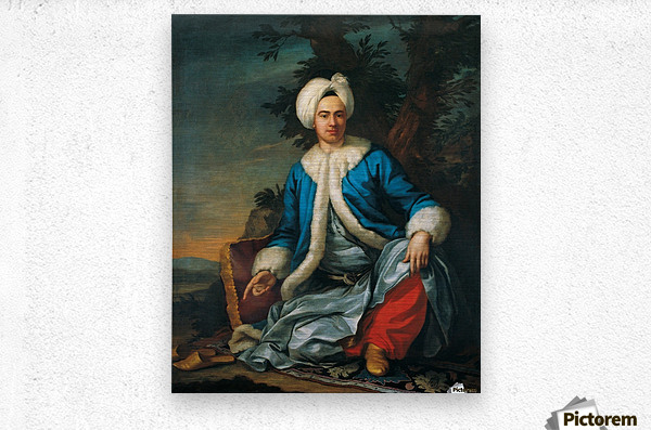 A European figure in Turkish costume  Metal print