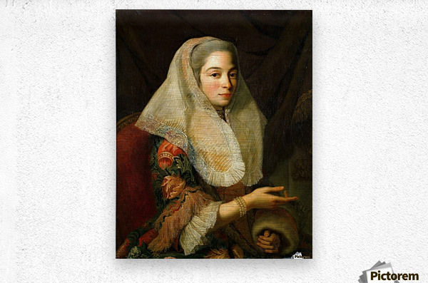 Portrait of a young Maltese woman  Metal print