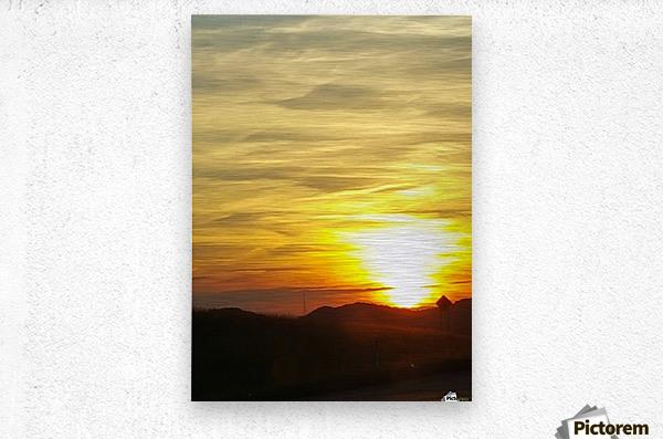 Vanishing Sun  Metal print