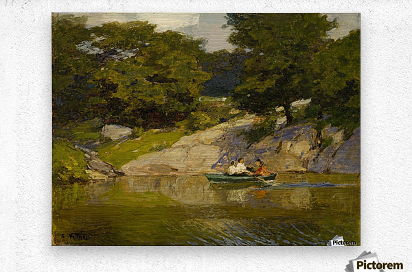 Boating in Central Park  Metal print