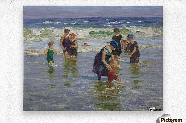 People enjoying the sea  Metal print