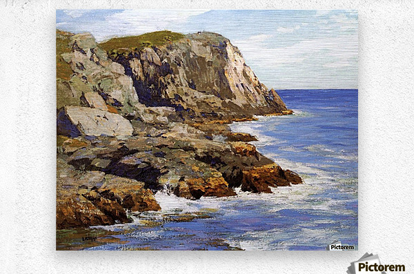 Cliffs and the sea landscape  Metal print