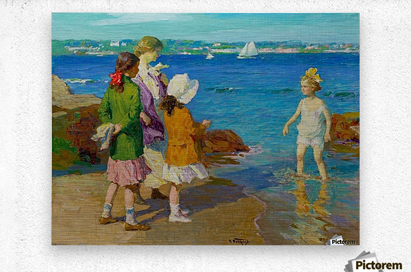 At The Beach and Cold Feet  Metal print