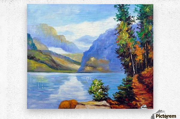Lake Louise, British Columbia  Metal print