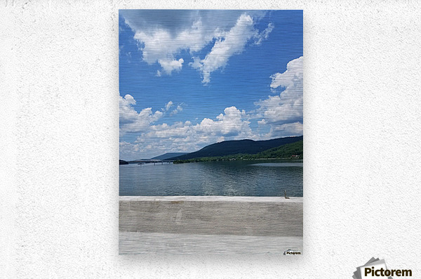 Looking Out Over Water  Metal print