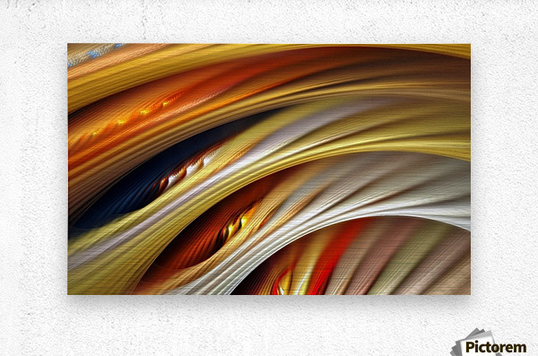 Colors Stripes Abstract Background Strings  Metal print