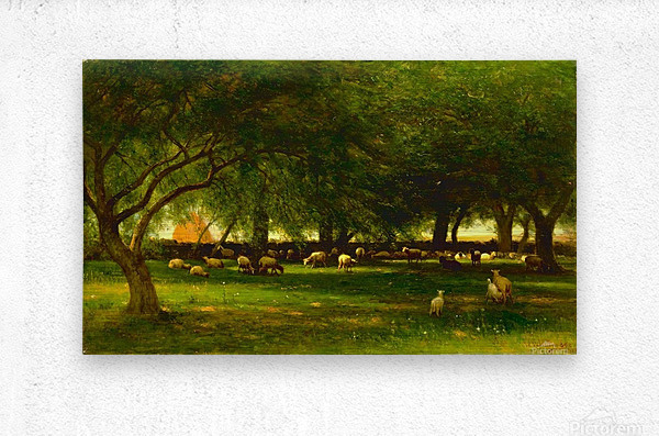 Noon in the Orchard  Metal print
