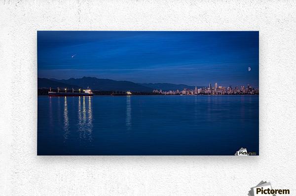Shooting Star over Vancouver  Metal print