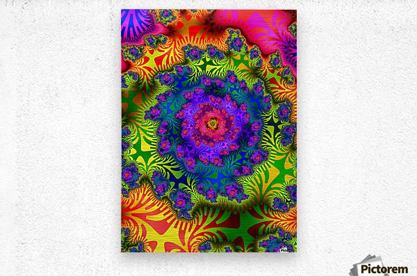 Vivid Abstract Image  Metal print