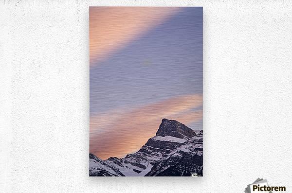 Clouds At Sunset Above Mountain Peaks, Kootenay Plains, Alberta, Canada  Metal print