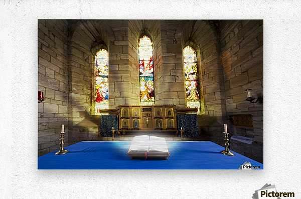 Bible In Church  Metal print