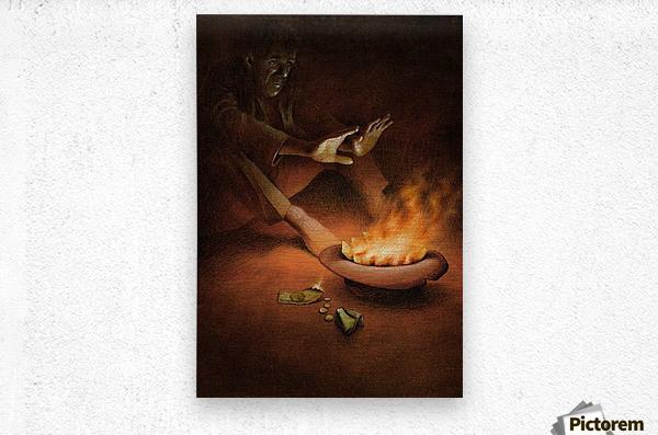 Money on Fire  Metal print