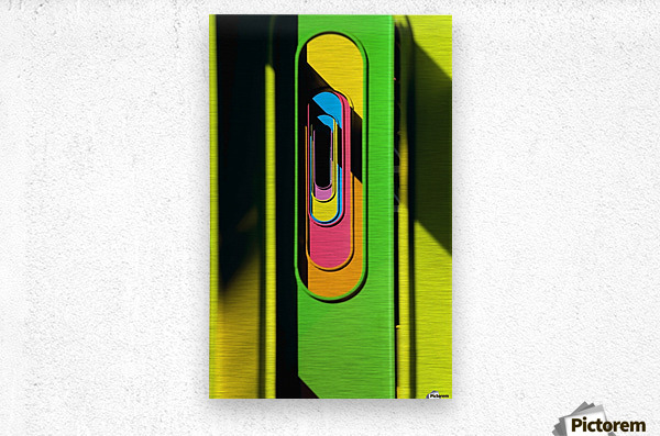 Looking Through Colorful Ovals  Metal print