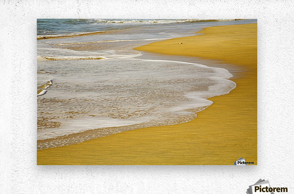 Tide On The Beach  Metal print