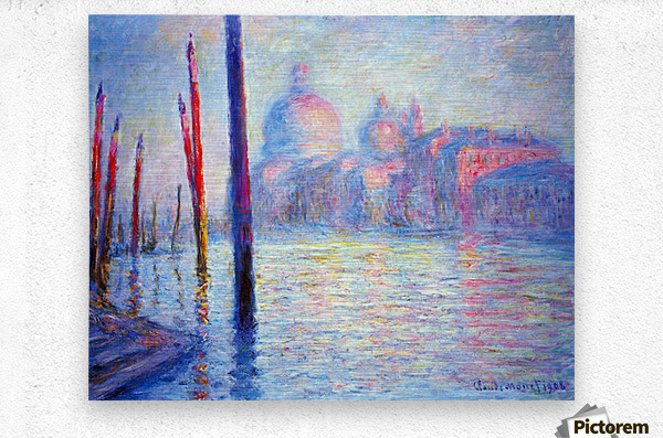 Canal Grand by Monet  Metal print