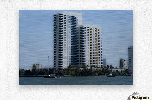 Miami Beach Buildings  Metal print