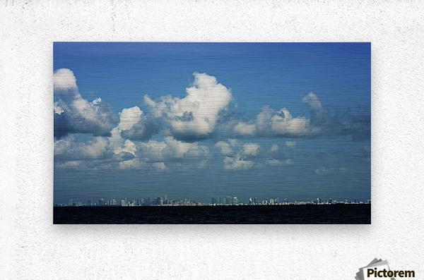Miami Skyline  Impression metal