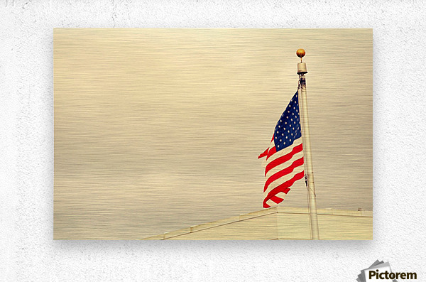 American Flag  Impression metal