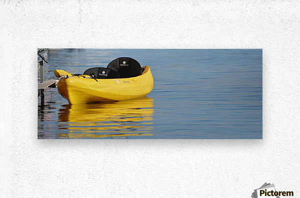 Yellow Kayak  Metal print