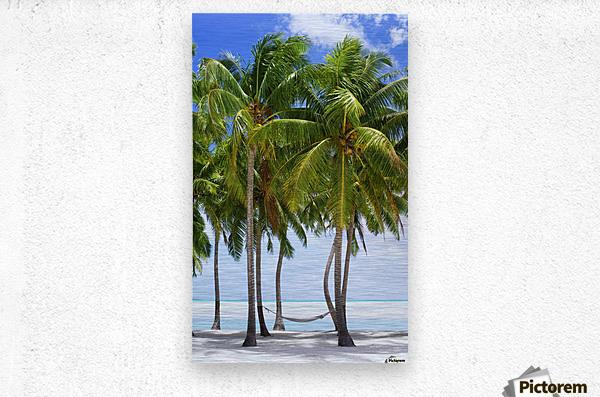 Aitutaki Lagoon Resort, Aitutaki, Cook Islands  Metal print