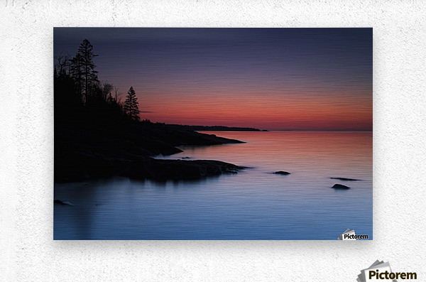 Dawn over the North Shore of Lake Superior, near Duluth; Minnesota, United States of America  Metal print