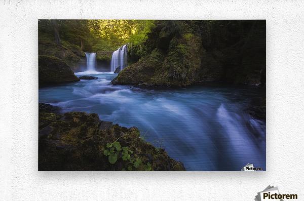 Spirit Falls; Washington, United States of America  Metal print